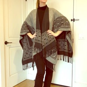 Reversible Poncho with Celtic Design